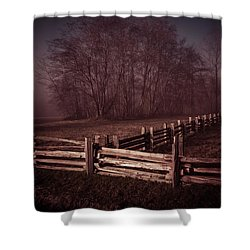 Where They Meet Shower Curtain