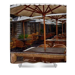 Where To Sit.... Shower Curtain by Tricia Marchlik