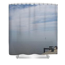 Where Water Meets Sky Shower Curtain