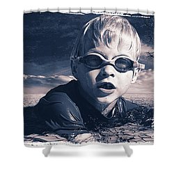 Where Will He Swim Tomorrow Shower Curtain