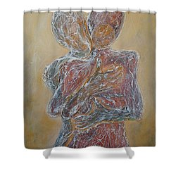 Where You Start And I Begin Shower Curtain