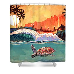 Where You Want To Be Shower Curtain by Patrick Parker