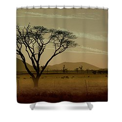 Wherever I May Roam Shower Curtain by Holly Kempe