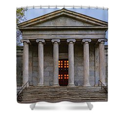 Shower Curtain featuring the photograph Whig Hall Princeton University by Susan Candelario