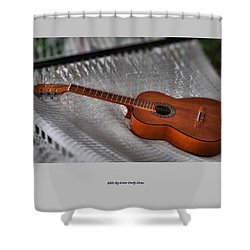 While My Guitar Gently Sleeps Shower Curtain by Jim Walls PhotoArtist