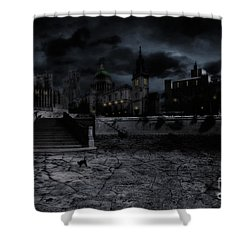 Whilst The City Sleeps Shower Curtain by John Edwards