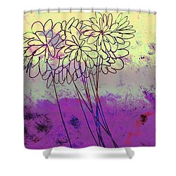 Whimsical Flower Bouquet Shower Curtain