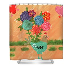 Henrietta The High Heeled Hen Shower Curtain