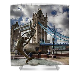 Whimsy At Tower Bridge Shower Curtain
