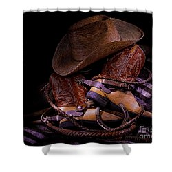 Whip It Cowboy Shower Curtain