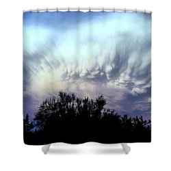 Whipped Cream Sky Shower Curtain
