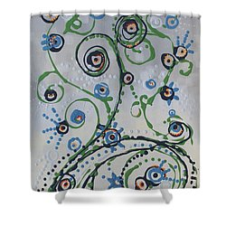 Shower Curtain featuring the painting Whippersnapper's Whim by Holly Carmichael