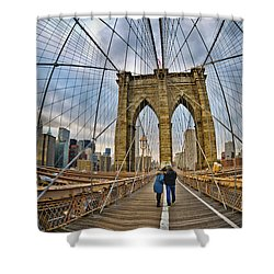 Whirled Wide Web Shower Curtain