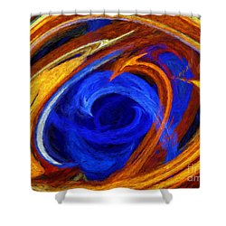 Shower Curtain featuring the digital art Whirlpool Abstract by Andee Design