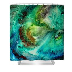 Whirlpool By Madart Shower Curtain by Megan Duncanson