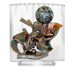 Whirlwind Shower Curtain by Al Goldfarb