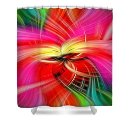 Whirlwind Of Colors Shower Curtain