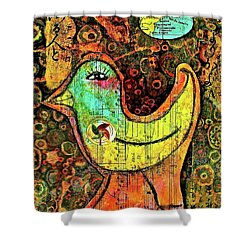 Whirly Bird Shower Curtain