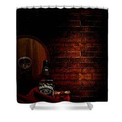 Whiskey Fancy Shower Curtain by Lourry Legarde