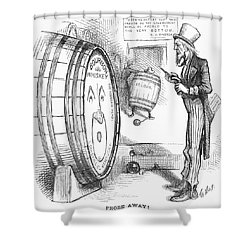 Whiskey Ring Cartoon, 1876 Shower Curtain by Granger