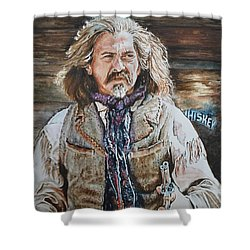 Whiskey Shower Curtain by Traci Goebel