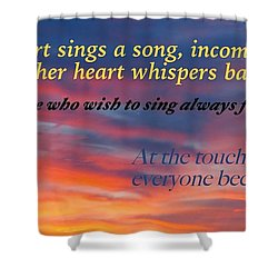 Shower Curtain featuring the photograph Whisper by David Norman