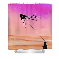 Whisper In The Wind Shower Curtain