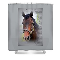 Whisper In The Wind Hoofprint Shower Curtain