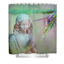 Whisper Of Angel Wings Shower Curtain by Bonnie Barry