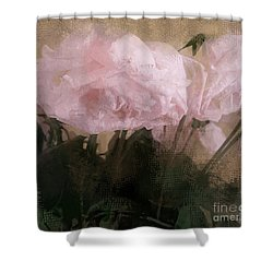 Shower Curtain featuring the digital art Whisper Of Pink Peonies by Alexis Rotella