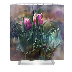 Whisper Of Spring Shower Curtain by Agnieszka Mlicka