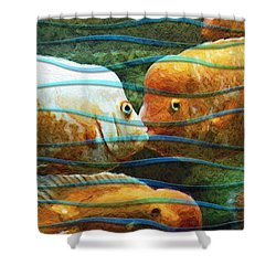 Whisper Sweet Nothings Shower Curtain
