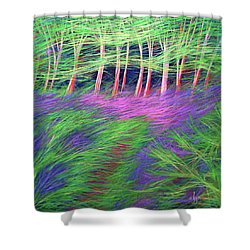 Shower Curtain featuring the painting Whisper The Wind by Angela Treat Lyon