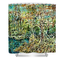 Whispering Leave Shower Curtain