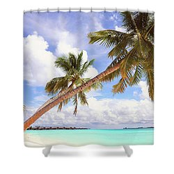 Whispering Palms. Maldives Shower Curtain