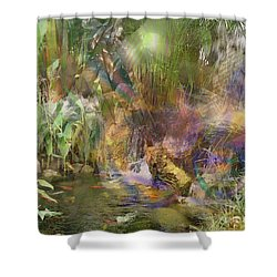 Whispering Waters Shower Curtain by John Beck