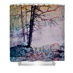 Shower Curtain featuring the painting Whispers In The Fog by Carolyn Rosenberger