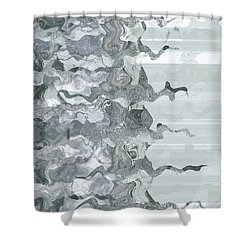 Shower Curtain featuring the digital art Whispers In Fog by Wendy J St Christopher