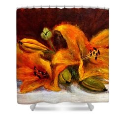 Shower Curtain featuring the painting Whispers Of Love..2 by Cristina Mihailescu