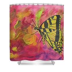 Whispers Of Wings And Petals Shower Curtain