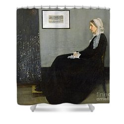 Whistlers Mother Shower Curtain by James Abbott McNeill Whistler