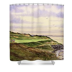 Whistling Straits Golf Course Hole 7 Shower Curtain by Bill Holkham