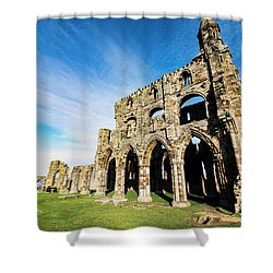 Shower Curtain featuring the photograph Whitby Abbey by Anthony Baatz