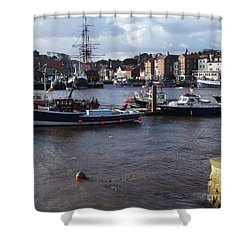 Whitby Harbour - North Yorkshire Shower Curtain