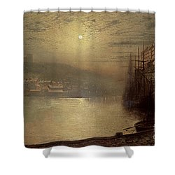 Whitby Shower Curtain by John Atkinson Grimshaw