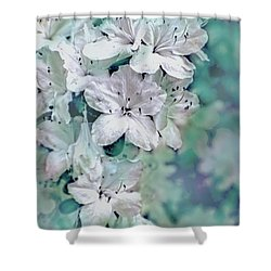 White Azaleas Shower Curtain