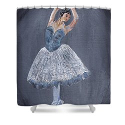 Shower Curtain featuring the painting White Ballerina by Jamie Frier
