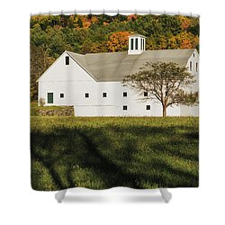 White Barn In Color Shower Curtain