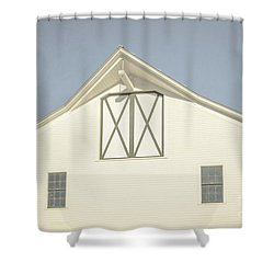 Shower Curtain featuring the photograph White Barn South Woodstock Vermont by Edward Fielding