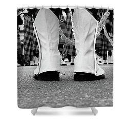 White Boots  Shower Curtain